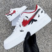 ⚫️🔴 AF1 NUAGE AKATSUKI 🔴⚫️  ___________________ . . Retrouvez toutes nos prestations sur notre site (Lien dans la bio) 👟 . . #awesome #painting #manga #naruto#akatsuki#comiccon #french #handmade #customairforce#friday #fridaymood #custom #customshoes #customsneakers#airforce #narutopainting #blue #red #shoes#basket #hypebeast #hype #lifestyle